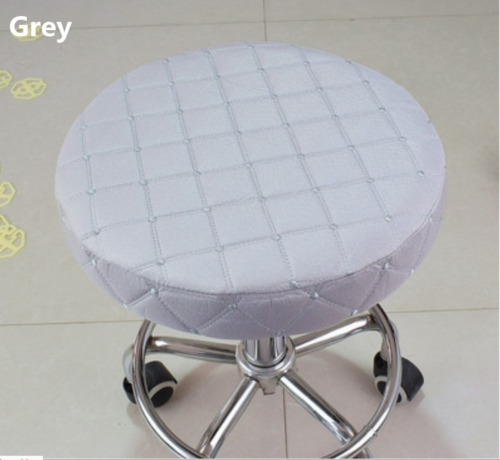 1pc 14 bar stool covers round chair seat cover cushions sleeve grey