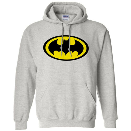 NWT BATMAN CLASSIC LOGO SUPERHERO COMICS MEN/'S HOODIE SWEATSHIRT SIZE S M L XL
