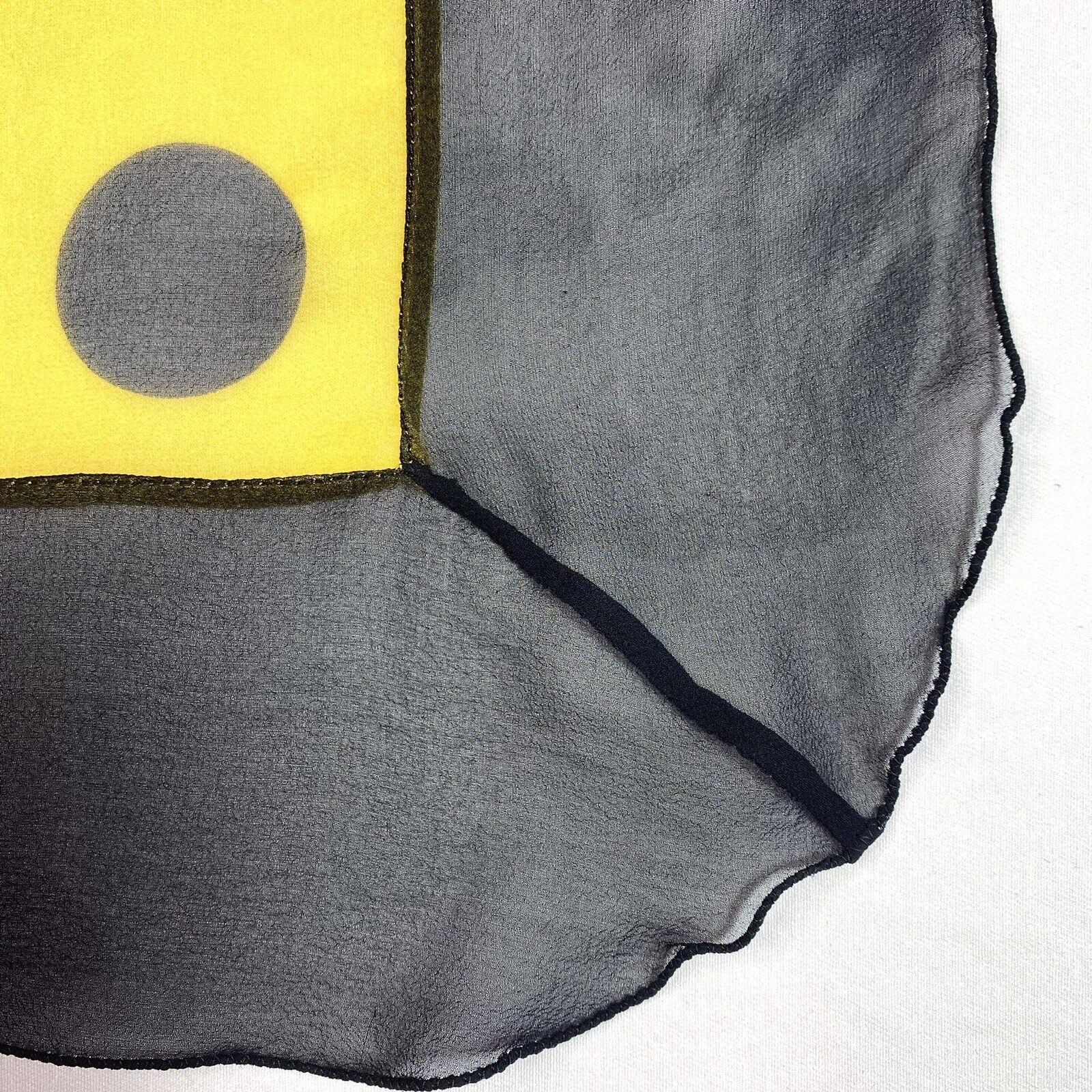 Vtg 80s Brioni Italy Big Sheer Yellow & Black Pol… - image 6