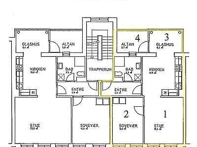 6700 vær. 2 lejlighed, m2 80, Borgergade