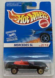 1995 SERIE HotWheels MODEL MERCEDES 500 SL Cabrio NERO, MOLTO MOLTO RARA!