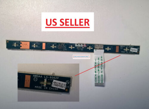 NWQAA LS-6062P K000141000 Media Button LED Board for Toshiba A665 Laptop US Loc