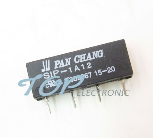 5PCS 12V Relay SIP-1A12 Reed Switch Relay 4PIN for PAN CHANG Relay NEW