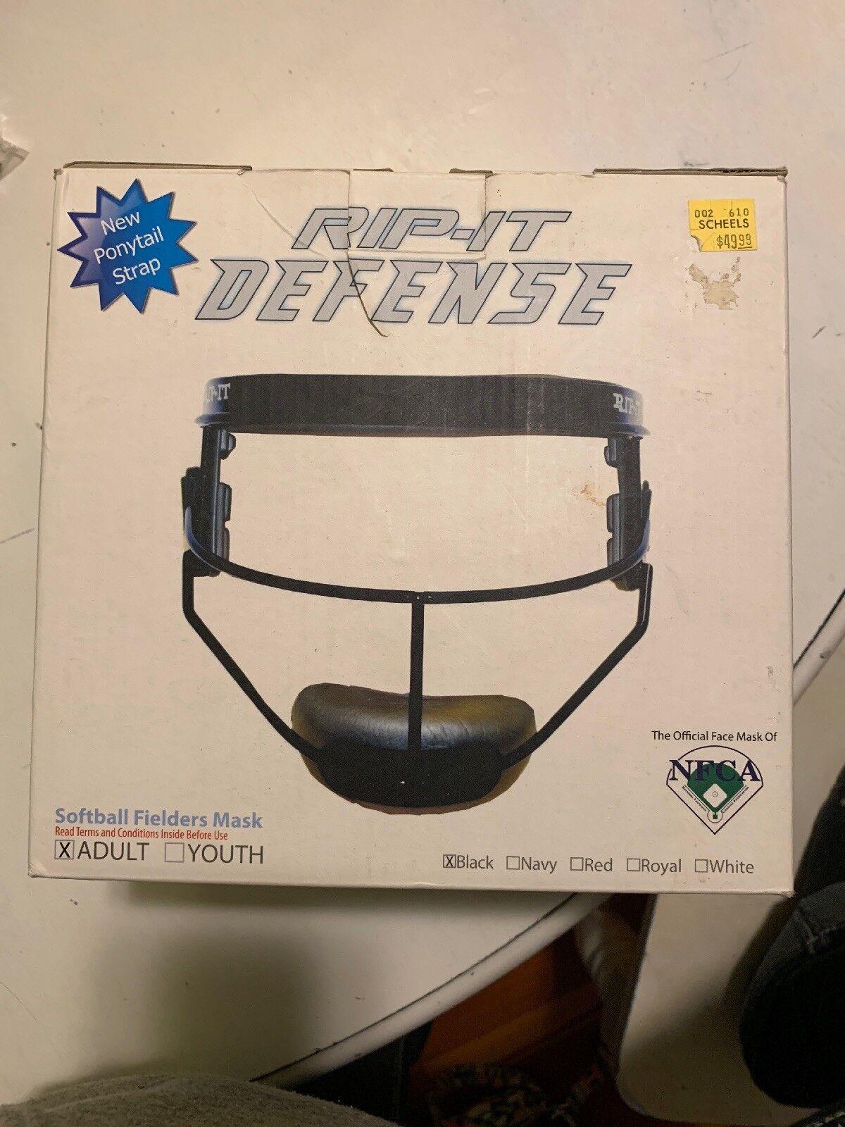 Rip-It Defense Softball Baseball Fielders Mask- Adult