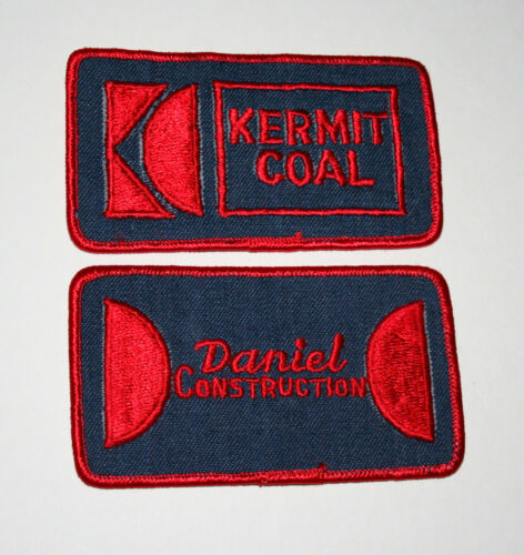 2 Rare Kermit W Virginia Coal Mines Daniel Constrution Patch New NOS 1970s