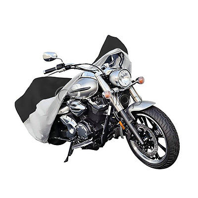 Black Silver XXL Motorcycle Cover Fit Yamaha VStar 950 1100 1300 Classic Stryker