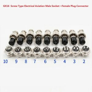 GX16 Aviation Cable Connector 2-10pin Male Plug /& Female Socket Connectors  TD