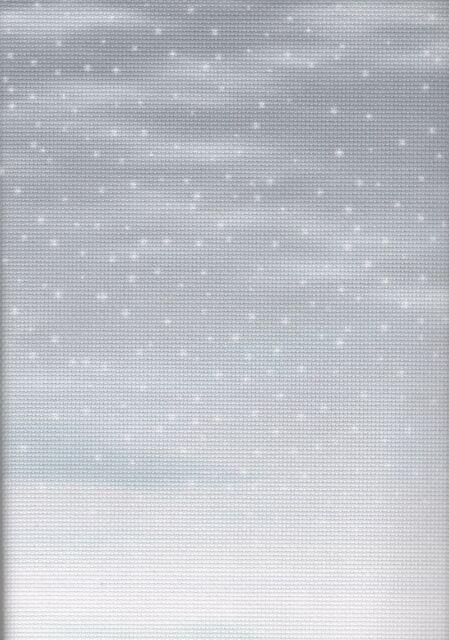 Fabric Flair Snowy Days Grey 16 count Aida - 30 x 90cm piece