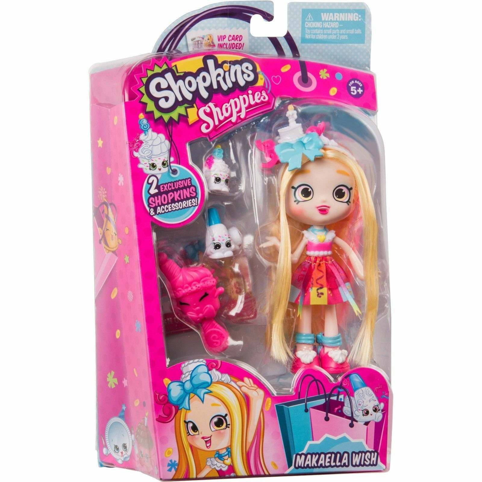 Shopkins Girls' Day Out    Shoppies Doll  Makaella Wish w  2 Exclusive Shopkins af1a90