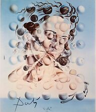 SALVADOR DALI HAND SIGNED SIGNATURE * GALATEA OF THE SPHERES *  PRINT W/ C.O.A.
