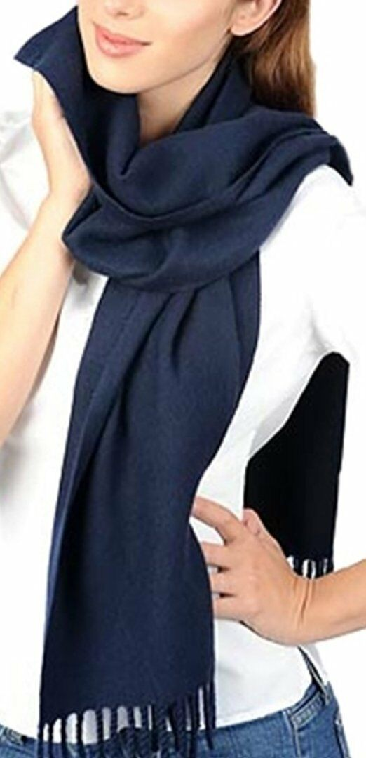 Balldiri 100% Cashmere Kashmir SCIARPA 200 x 35 cm 4-fädig 4-fädig 4-fädig Tessuti Blu Scuro 263c5b