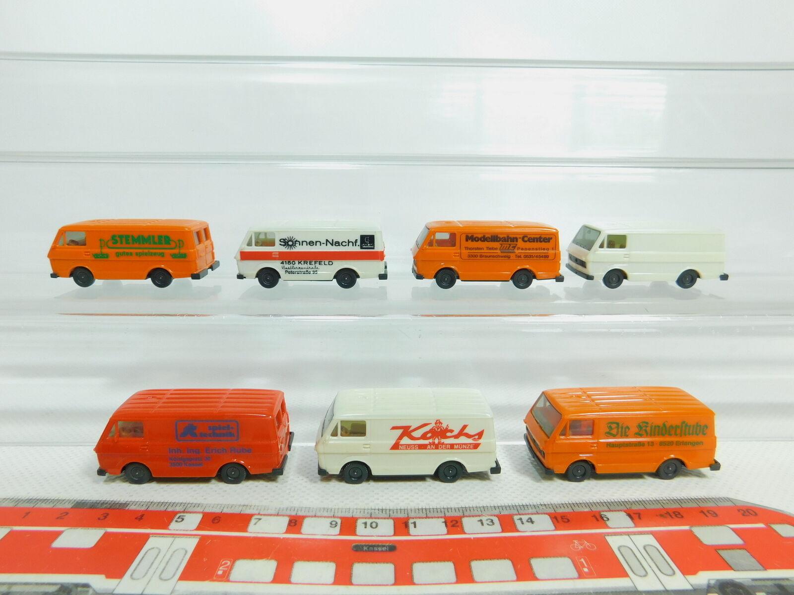 Bn145-0, 5 x Herpa H0   1 87 TRANSPORTER VOLKSWAGEN   VW LT  Stemmler etc. ,