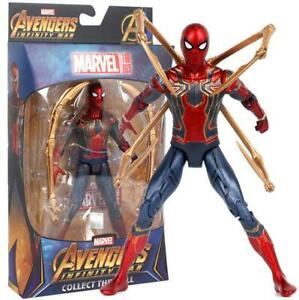 Marvel-Avengers-Spider-Mann-Statue-Spiderman-PVC-Action-Figur-034-18-cm-034-Modell-Spielzeug