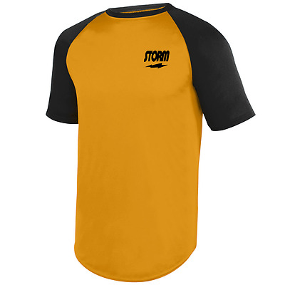 Storm Men/'s Paradigm Performance Crew Bowling Shirt Dri-Fit Lime Black