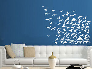 Black Flying Birds Wall Sticker For Kids Rooms Bedroom Diy Vinyl Wall Stickers Mural Art Decal Room Home Decor Sticker For Kids Room Wall Stickers For Kidsbird Wall Sticker Aliexpress