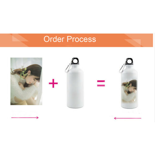 50pcs//carton 600ml White Blank Aluminum Sports Bottle for Sublimation Printing