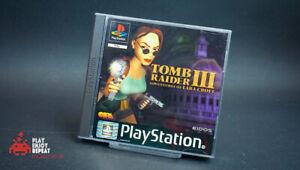 Tomb-Raider-3-komplett-Spiel-ps1-Black-Label-Playstation-Sony-One-PAL-CIB-Fast-PP