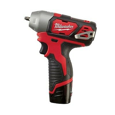 "Milwaukee M12 FUEL Stubby 1//4/"" Impact Wrench Kit w//4Ah/&2Ah Batteries 2552-22"