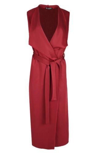 Da Donna Anteriore Apri Cravatta Con Cintura Cascata Lunghezza Midi DUSTER Donna Cape Cardigan