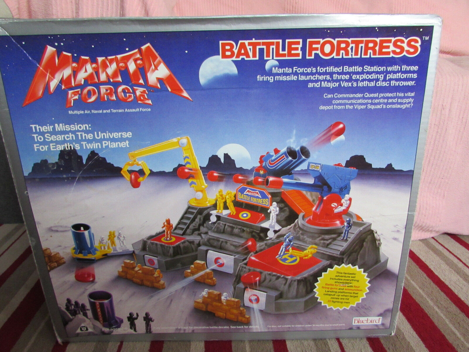 1988 blueEBIRD TOYS M.A.N.T.A FORCE BATTLE FORTRESS NOT COMPLETE