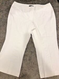 f7c789f39e5ca Ashley Stewart Womens Size 26 White Curvy Dress Career Pants Wide ...