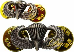 US-ARMY-Airborne-Parachutist-Paratrooper-MINI-Jump-Wings-Insignia-Pin-Oxidized
