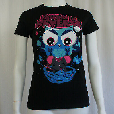 Authentic FALLING IN REVERSE Anime Owl Girl Juniors T-Shirt S M L XL NEW