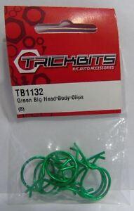 TB1132-trickbits-AUTO-DI-RICAMBIO-VERDE-METALLIZZATO-Big-Head-ANGOLATA-CLIP