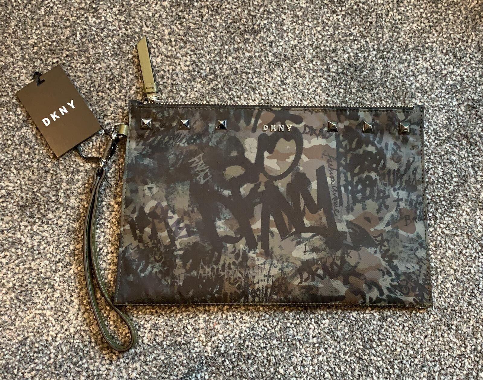 DKNY Green Gramercy Wristlet Purse/bag - New Tags Rrp 💗
