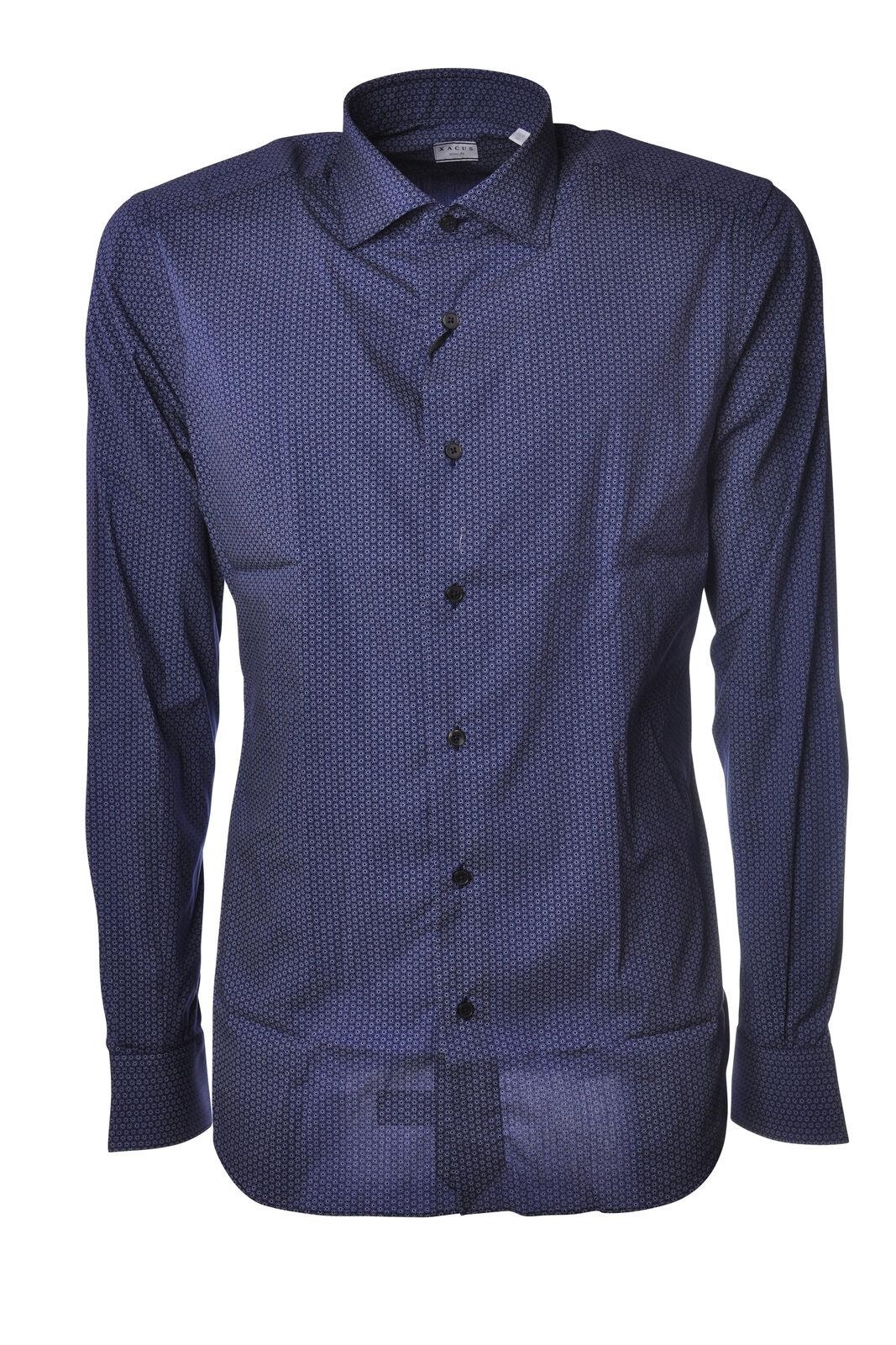 Xacus - bluesen-Shirt - Mann - blue - 5249601G184338