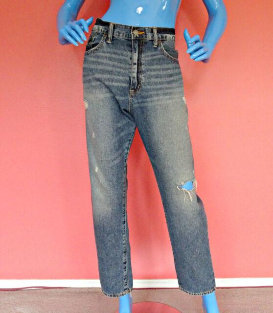 Womens Ralph Lauren Destroyed Boyfriend Jeans 31 M L 10 12 14 Denim Pants Tomboy