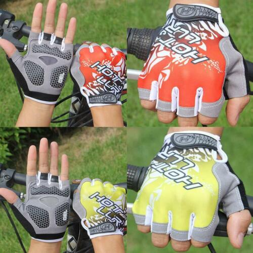 Mountain Bike Bicycle Cycling Half Finger Gloves GEL Silicone Pad Fingerless