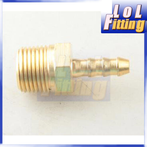 """4mm Male Brass Hose Barbs Barb To 3//8/"""" NPT Pipe Male Thread"""