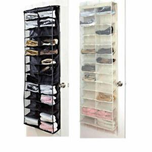 Over-the-Door-Shoe-Organizer-Rack-26-Pocket-Hanging-Storage-Space-Saver-Hanger