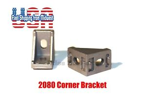 2028 Corner Bracket For 2020 Aluminum Extrusion, Size 28x28x20mm, 20 Pack