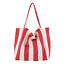 miniature 20 - Women-Large-Canvas-Shopping-Bag-Fashion-Striped-Cloth-Reusable-Tote-Bag