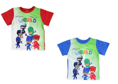 PJ Masks T-Shirt Jungen Shirt kurzarm blau Rot 92-128 NEU