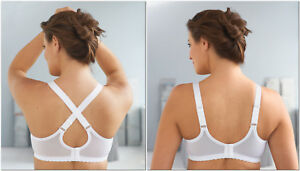 NEW-2-Way-Bra-msrp-42-CONVERTIBLE-Dual-Strap-F-amp-B-Adjustment-White-CLEARANCE
