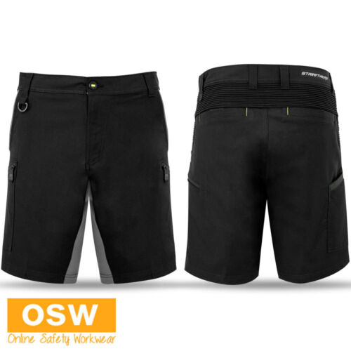 MENS TRADIES CASUAL BUILDERS STREET WEAR SOFT 4-WAY STRETCH COTTON WORK SHORTS
