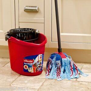 Vileda-Supermocio-3-XL-Action-Mop-Bucket-Set-Red-Black-fast-Delivery