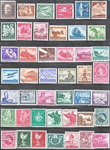 Stamp Germany Year 1944-5 Mi 864-908 Set WWII 3rd Reich War Wehrmacht Tank Used