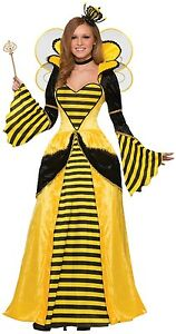 Dress Full Costume Insect Ladies Queen Bee Fancy Animal 14 Long 10 Outfit lengde C1wwn8pqzx