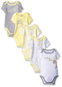 Calvin-Klein-Infant-Girls-5pc-Yellow-amp-Gray-Bodysuit-Set-Size-0-3M-3-6M-6-9M