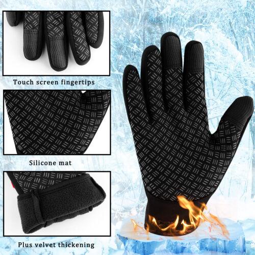 Details about  /Men Women Winter Sports Warm Gloves Waterproof Thermal Ski Touch Screen Mittens