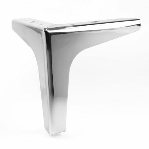 Steel Plinth Legs//Feet for Furniture Heavy Duty /& Strong. Chrome Sofa Legs