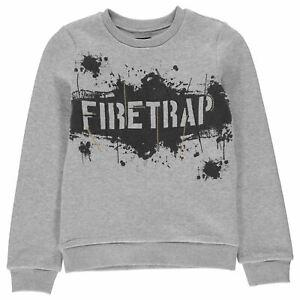 Firetrap-Kids-Boys-Crew-Neck-Sweatshirt-Junior-Sweater-T-Shirt-Top-Jumper