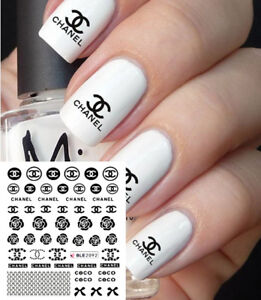 ❤️NOUVEAU (50)STICKERS LOGO MARQUE BIJOUX ONGLES WATER DECALS NAIL ... a6981b01d9a6