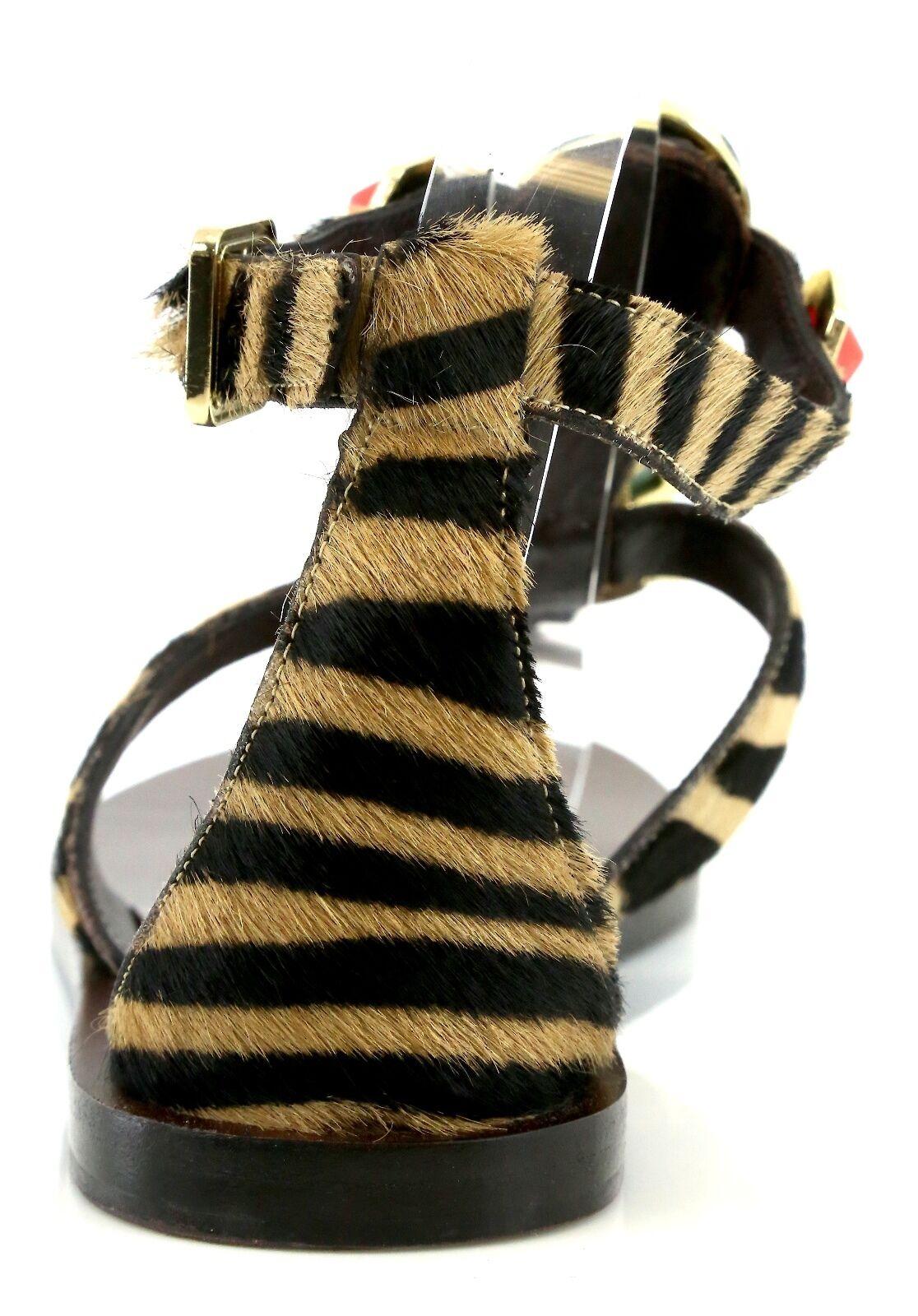 Miss.Trish STONED Zebra Zebra Zebra Print Sandals W  Mulit-colord Stones 7371 Size 10 M NEW ddfde5