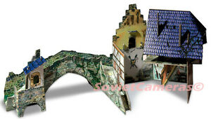 Bridge Medieval Town Terrain Scenery 3D Cardboard Model Kit Wargame