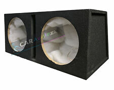 "Double Dual 12"" Custom Slot Ported box MDF enclosure for 2 x 12"" sub subwoofers"